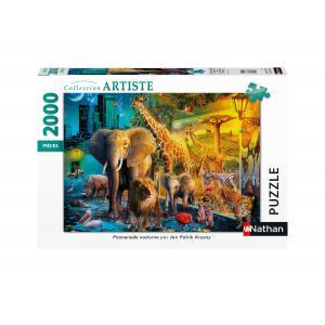 Nathan puzzles - 87886 - Puzzle 2000 pièces - Promenade nocturne (426784)