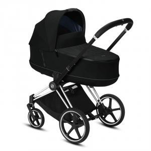 Cybex - BU323 - Poussette travel system - Priam, nacelle et siàège auto - Chrome noir, noir (426806)