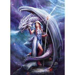 Clementoni - 39525 - Puzzle Anne Stokes 1000 pièces  - Dragon Mage (426974)