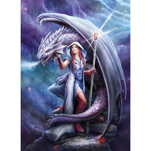 Clementoni - 39525 - Puzzle adultes Anne Stokes Collection 1000 Pièces - Dragon Mage (426974)