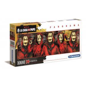 Clementoni - 39545 - Puzzle La Casa de Papel - Panorama 1000 pièces (427024)