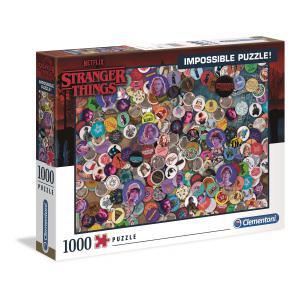 Clementoni - 39528 - Puzzle Stranger Things - Impossible 1000 pièces (427030)