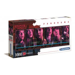 Clementoni - 39548 - Puzzle adultes Netflix - Stranger Things - 1000 pièces Panorama (427032)