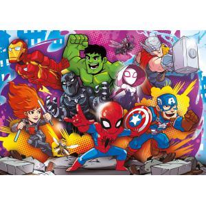 Clementoni - 24769 - Puzzle enfants 2x20+2x60 Pièces - Marvel Superhero (427054)