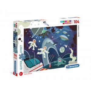 Clementoni - 20166 - Puzzle enfants 104 pièces - Glitter - Espace (427090)