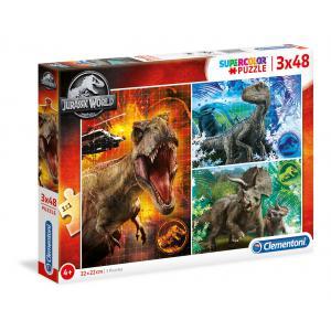 Clementoni - 25250 - Puzzle enfants 3x48 Pièces - Jurassic World (427196)