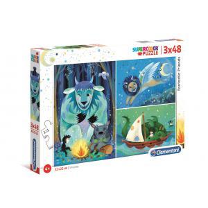 Clementoni - 25245 - Puzzle 3x48 pièces - Fantastic Friends (427206)