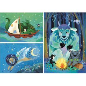 Clementoni - 25245 - Puzzle enfants 3x48 Pièces - Fantastic Friends (427206)