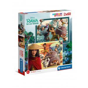 Clementoni - 21616 - Puzzle 2x60 pièces - Raya (427220)
