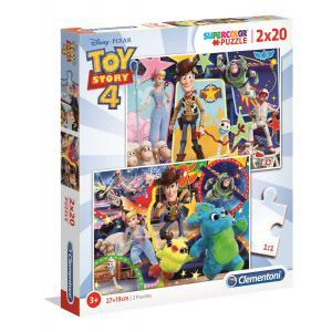 Clementoni - 24761 - Puzzle 2x20 pièces - Toy Story 4 (427250)