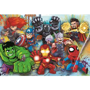 Clementoni - 26454 - Puzzle 60 pièces Maxi - Marvel Superhero (427294)