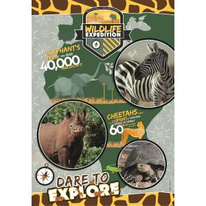 Clementoni - 29207 - Puzzle National Geographic Kids 180 pièces - Sauvage (427364)