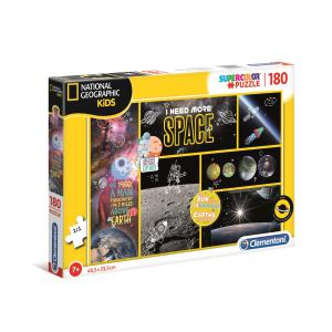 Clementoni - 29206 - Puzzle National Geographic Kids 180 pièces - Espace (427366)