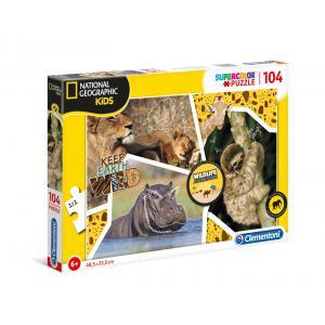 Clementoni - 27143 - Puzzle enfants National Geographic Kids 104 pièces - Sauvage (427370)