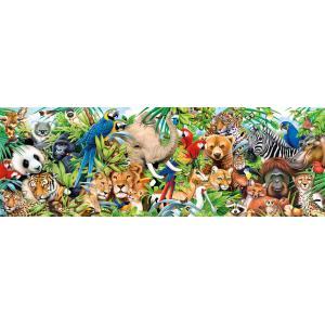 Clementoni - 39517 - Puzzle adultes Panorama 1000 Pièces - Wildlife (427846)