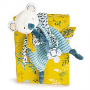 Doudou et compagnie - DC3665 - Yoca le koala - doudou attache-sucette  - taille 20 cm (428008)