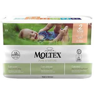 Moltex - 152555 - Pure et Nature - 38 Couches jetables Mini 3-6 kg (428648)