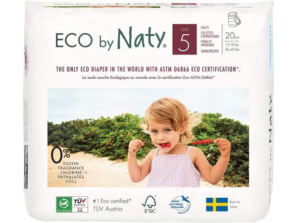Couches-culottes écologiques premium taille 5, 20 couches, 12-18 kg