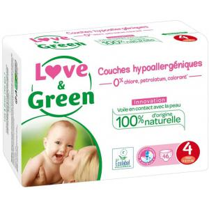 Love And Green - 06LGPJBMAX - Couches Hypoallergéniques 46 Couches Taille 4 (7-14 kg) (429948)