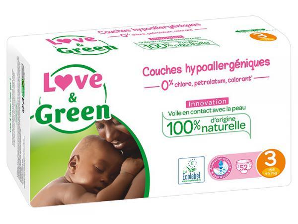 Couches Écologiques taille 3 - paquet 52 couches
