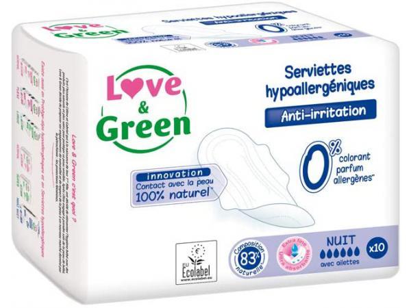 Love and green - 10 serviettes love and green - 10 serviettes