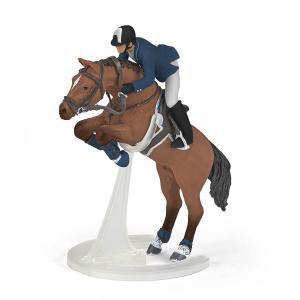 Papo - 51562 - Figurine Cheval de saut d'obstacle et son cavalier (430274)