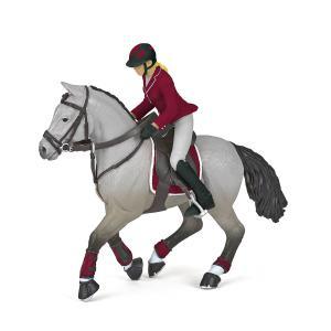 Papo - 51563 - Cheval de concours et sa cavalière (430276)
