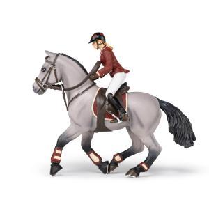 Papo - 51563 - Cheval de concours et sa cavalière - Dim. 16 cm x 10 cm x 19 cm (430276)