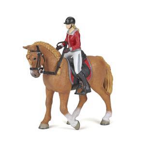 Papo - 51564 - Cheval de promenade et sa cavalière - Dim. 10 cm x 16 cm x 19 cm (430278)