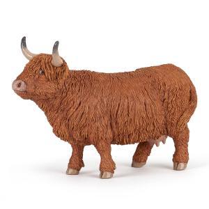 Papo - 51178 - Vache Highland - Dim. 13 cm x 4,8 cm x 4,3 cm (430292)