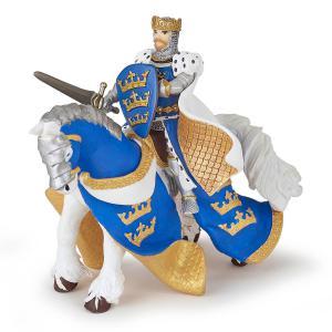 Papo - 39952 - Cheval du roi Arthur bleu - Dim. 14 cm x 7,5 cm x 9,5 cm (430320)