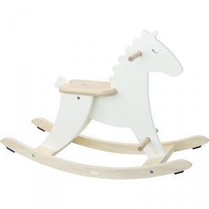 Vilac - 1128W - Hudada cheval à bascule blanc ivoire (431318)