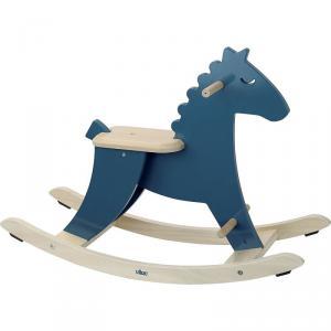 Vilac - 1128B - Hudada cheval à bascule bleu paon (431320)