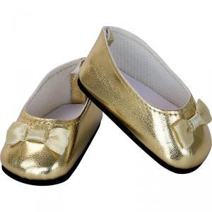 Petitcollin - 603916 - Ballerines dorées avec nœud pour poupée taille 39/40/44/48 (431386)