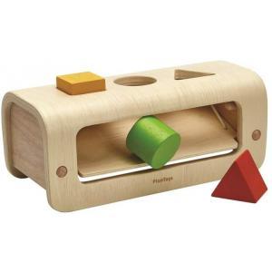 Plan toys - PT5398 - BANC À MARTELER EN BOIS NATUREL  3 FORMES (432342)