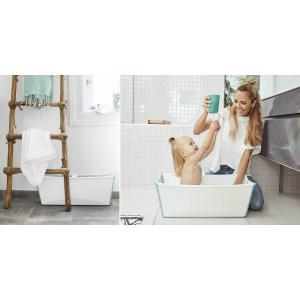 Stokke - BU217 - Flexi bath baignoire avec son support - Blanc-aqua (432700)