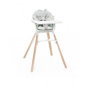 Stokke - BU223 - Chaise haute Stokke Clikk blanc et coussin (432712)