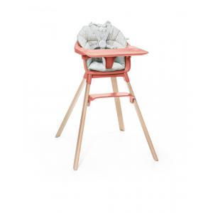 Stokke - BU224 - Chaise haute Clikk Stokke corail avec coussin (432714)