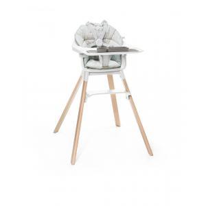 Stokke - BU227 - Chaise haute enfant Clikk blanc avec coussin et ezpz set de table (432720)