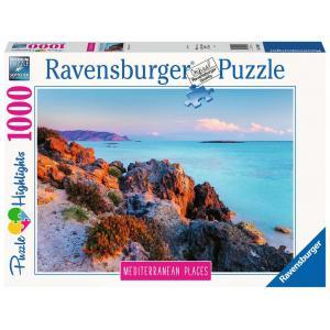 Ravensburger - 14980 - Puzzle 1000 pièces - La Grèce méditerranéenne  (Puzzle Highlights) (432752)