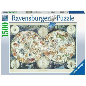 Ravensburger - 16003 - Puzzle 1500 pièces - Mappemonde des animaux fantastiques (432768)