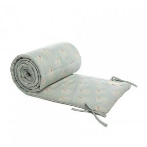 Nobodinoz - N114279 - Tour de lit coton Nest WHITE GATSBY/ ANTIQUE GREEN (432816)