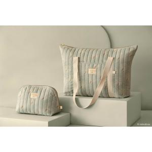 Nobodinoz - N113814 - Trousse de toilette Holiday WHITE GATSBY/ ANTIQUE GREEN (432908)