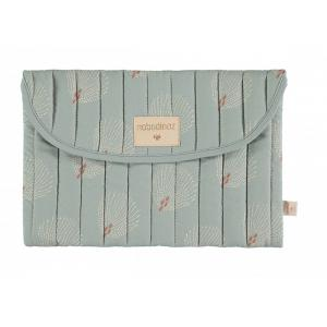Nobodinoz - N113852 - Pochette Bagatelle WHITE GATSBY/ ANTIQUE GREEN (432916)