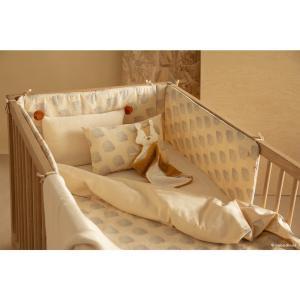 Nobodinoz - N114040 - Housse de couette bébé Himalaya BLUE GATSBY/ CREAM (432938)