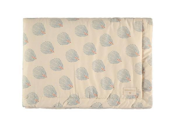 Couverture naissance laponia blue gatsby/ cream
