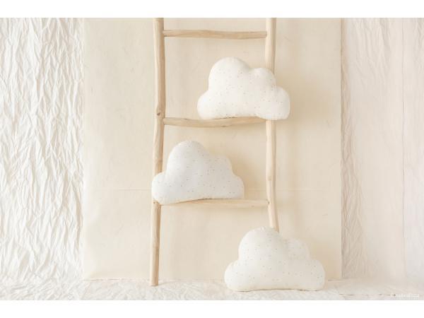 Coussins cloud honey sweet dots natural