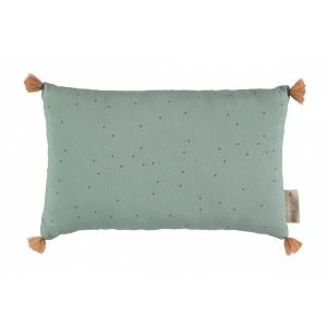 Nobodinoz - N114392 - Coussins Sublim TOFFEE SWEET DOTS/ EDEN GREEN (433030)