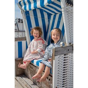 Lassig - 1433004482 - Poncho de plage Rayures marine bleu (433208)