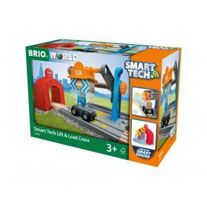Brio - 33827 - Grue de chargement de marchandises smart tech - Thème Transport de marchandises - Age 3 ans + (433280)